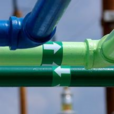close up of pipes